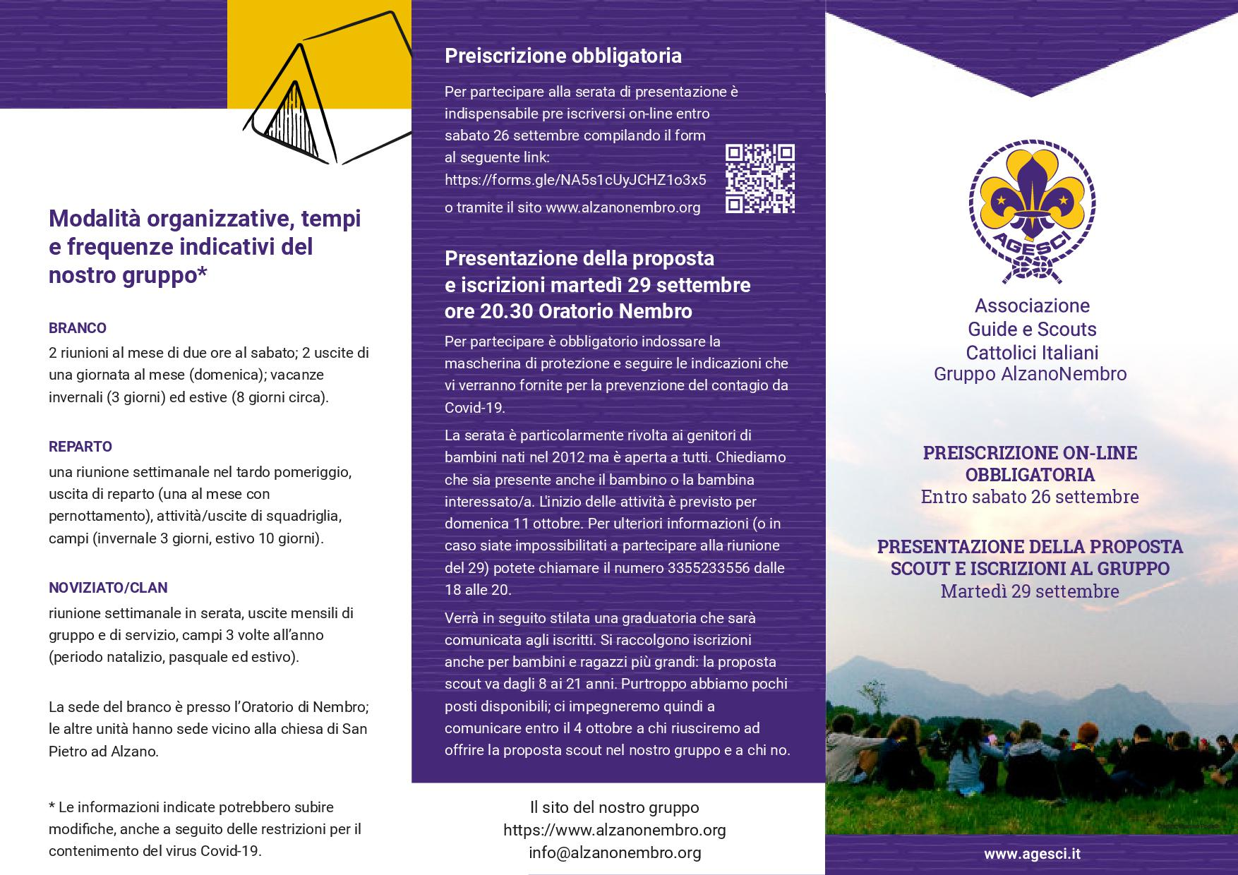 Brochure open day scout 20201
