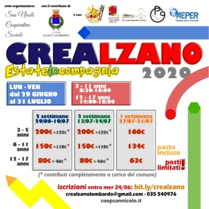 CRE ALZANO 2020 - Estate in Compagnia